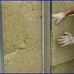 Утепление кирпичных стен каменной ватой.